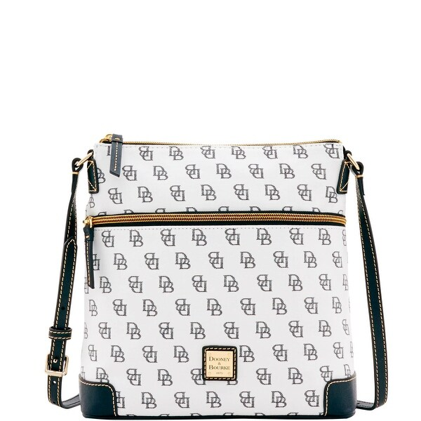 Dooney & Bourke Madison Signature Crossbody (Introduced by Dooney & Bourke at $168 in Feb 2017) - White Black