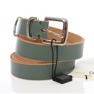 Dolce & Gabbana Green Leather Logo Belt - 90-cm-36-inches