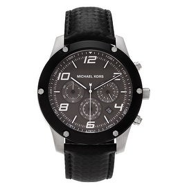 Michael Kors Men's MK8488 'Caine' Stainless Steel Chronograph Leather Strap Watch