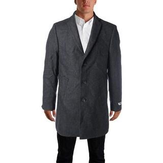 DKNY Mens Wool Blend Slim Fit Coat - 40R