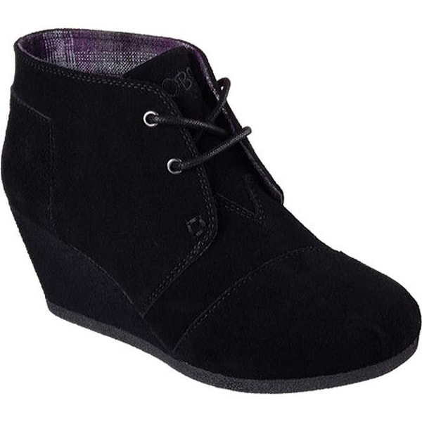 a4602e71b63 Shop Skechers Women s BOBS High Notes Behold Wedge Ankle Boot Black ...