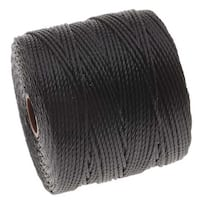 BeadSmith Super-Lon (S-Lon) Cord - Size 18 Twisted Nylon - Black / 77 Yard Spool