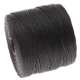 BeadSmith Super-Lon (S-Lon) Cord - Size 18 Twisted Nylon - Black / 77 Yard Spool