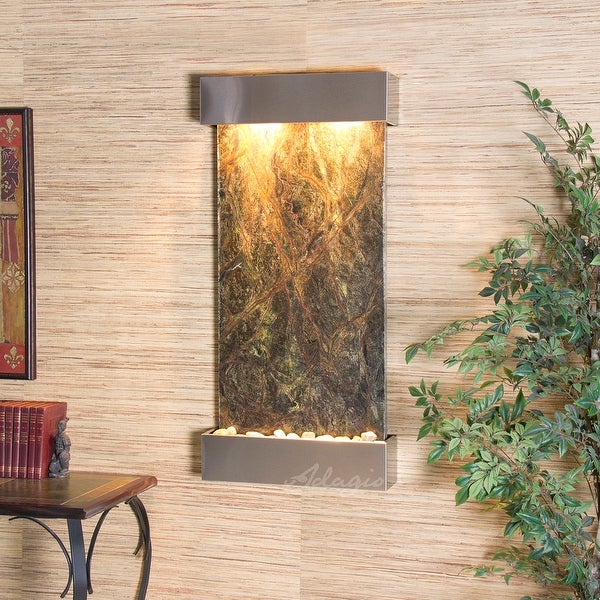 Adagio Reflection Creek Fountain with Blackened Copper Finish - Green Featherstone