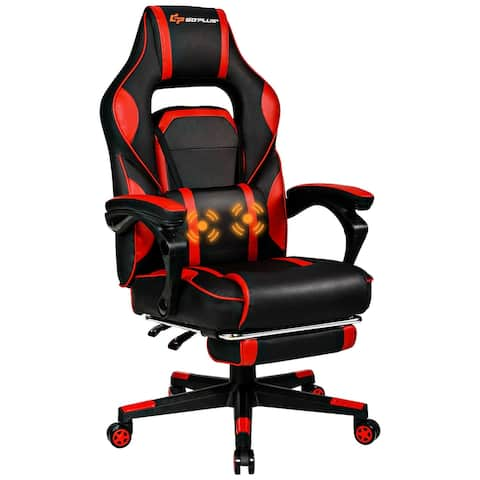 Goplus Massage Gaming Chair Reclining Racing Computer Office Chair