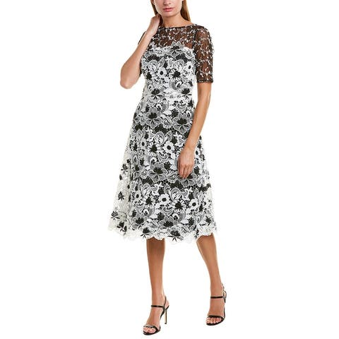 Teri Jon By Rickie Freeman Midi Dress