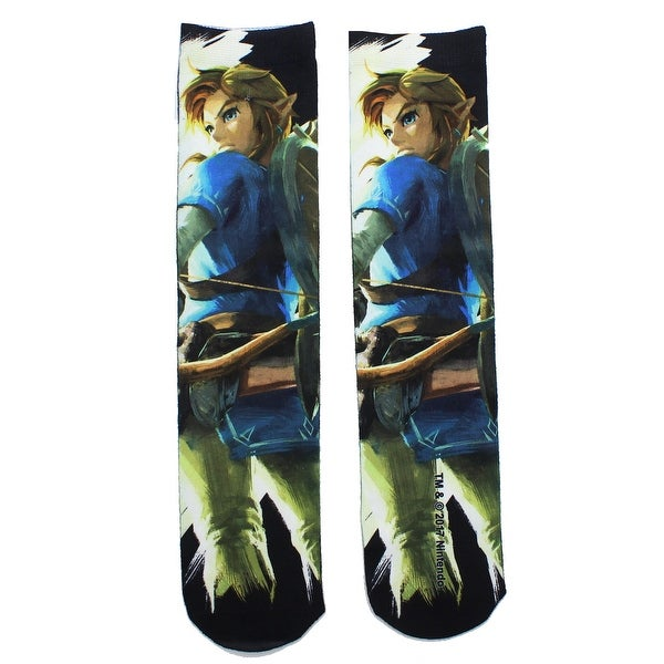 Legend of Zelda Breath of the Wild Men's Socks - Blue