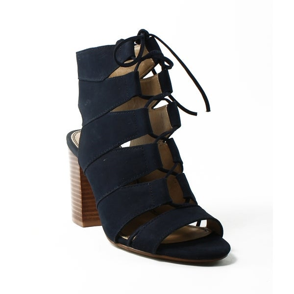 41d74f1d13af Shop Splendid Womens Spl-Banden Navy Open Toe Heels Size 5.5 - On ...