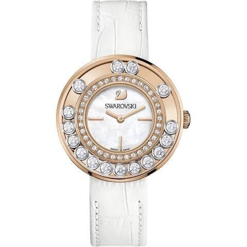 Swarovski Women's 1187023 'Lovely' Crystal White Leather Watch