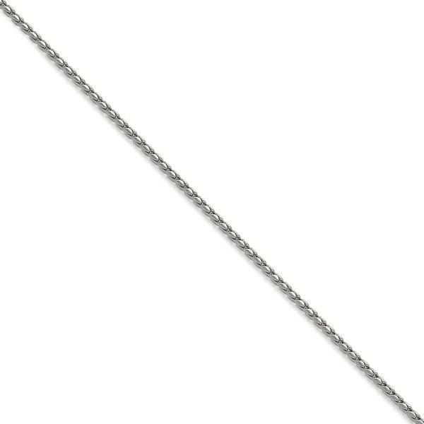 Chisel Stainless Steel 2.50mm Polished Fancy Link Chain (2.5 mm) - 18 in