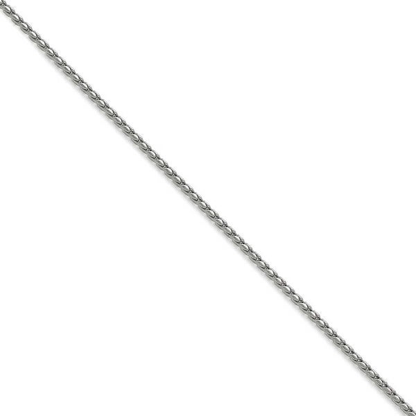 Chisel Stainless Steel 2.50mm Polished Fancy Link Chain (2.5 mm) - 24 in