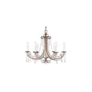 Landmark Lighting 416 Crystal Six Light Up Lighting Chandelier from the Cambridge Collection