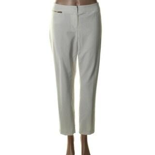 Ellen Tracy Womens Betty Straight Fit Slim Dress Pants - 4