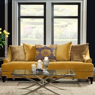 Link to Furniture of America Gisc Contemporary Velvet Upholstered Sofa Similar Items in Living Room Furniture