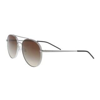 Emporio Armani EA2040 301013 Silver Aviator Sunglasses - 58-17-145