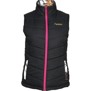 Rocky Western Vest Womens Quilted Insulated Full Zip - Black