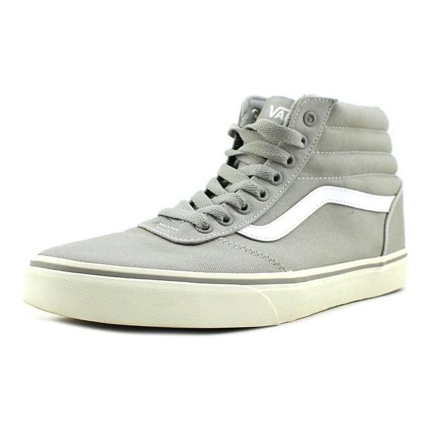 Vans Ward Hi Men Round Toe Canvas Gray Skate Shoe
