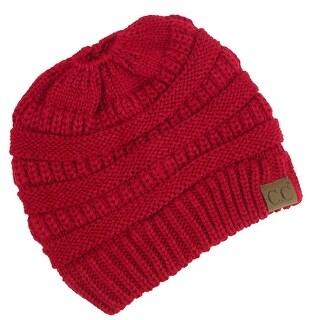 C.C Women's Messy Bun Beanie Hat