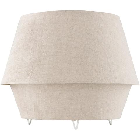 Mahala Ivory Linen Fabric Covered Table Lamp