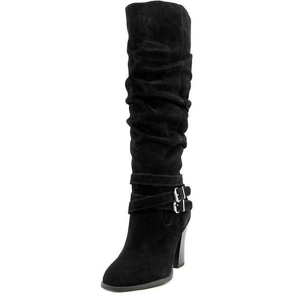INC International Concepts Womens JORDANA Wide Calf Leather Closed Toe Mid-Ca...