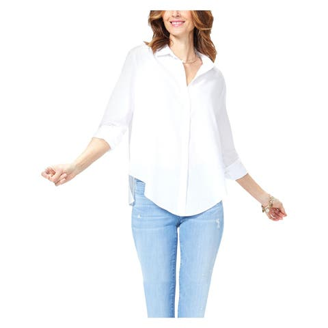 NYDJ Womens Lawn Shirt Blouse Cotton Casual