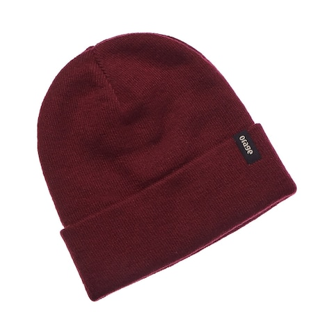 Orage Collie Red Wool-Blend Beanie