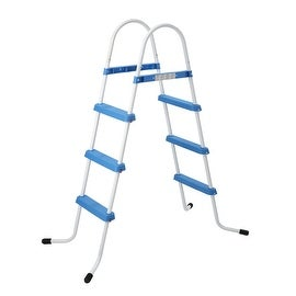 "50"" Blue and White Three Step Above Ground Swimming Pool Ladder"