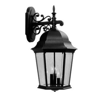 Livex 7565-04 Hamilton Exterior Lantern- Black
