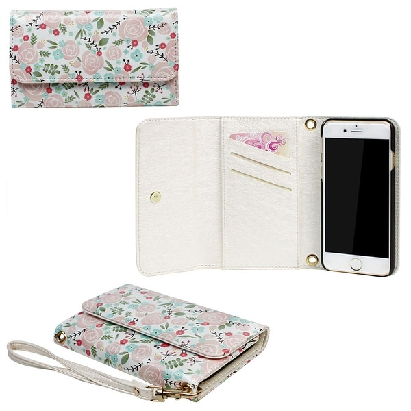 JAVOedge Rose Wallpaper Clutch Wallet Case with Matching Wristlet for iPhone 6 (4.7 inch) - roses