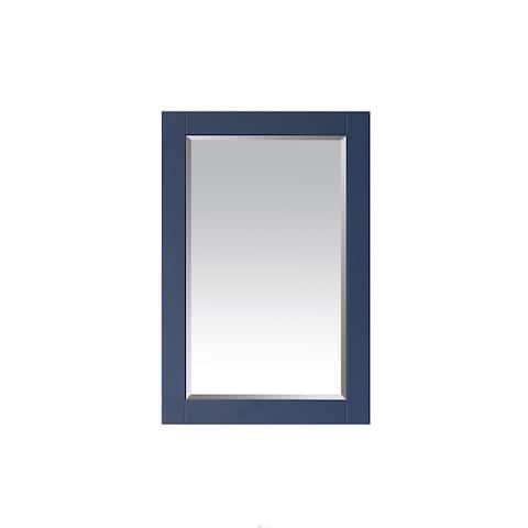 Grayson 24 Inch Rectangular Bathroom Vanity Framed Wall Mirror In Blue - 24 inches