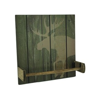 Rustic Wood Wildlife Hanging Paper Towel Holder