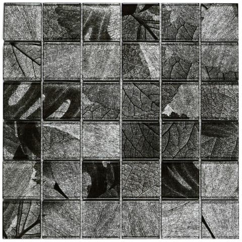 "TileGen. Season Series Winter 2"" x 2"" Glass Tile in Gray Wall Tile (10 sheets/9.6sqft.)"