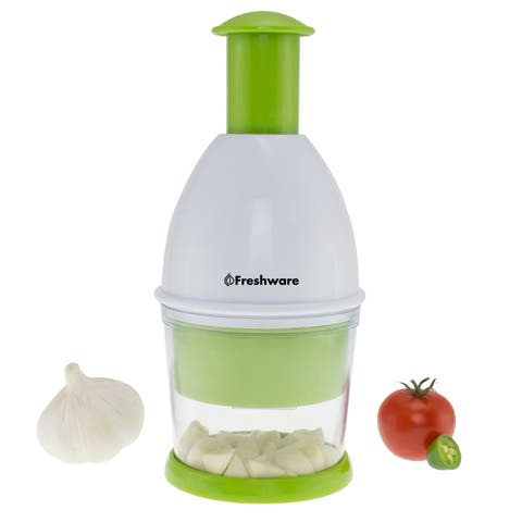 Freshware Garlic Chopper, Vegetable Chopper, Food Chopper for Garlic, Onion, Nuts, Herbs and Salsa