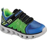 Skechers Boys' S Lights Hypno-Flash 2.0 Sneaker Blue/Lime