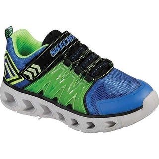 Skechers Boys' S Lights Hypno-Flash 2.0 Sneaker Blue/Lime