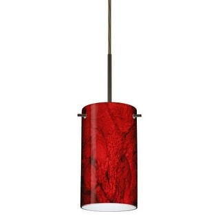 Besa Lighting 1BT-4404MA Stilo 1 Light Cord-Hung Mini Pendant with Magma Glass Shade