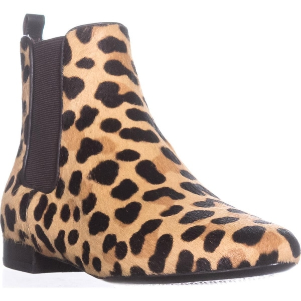 Tory Burch Orsay Bootie Ankle Boots, Leopard Print/Coconut