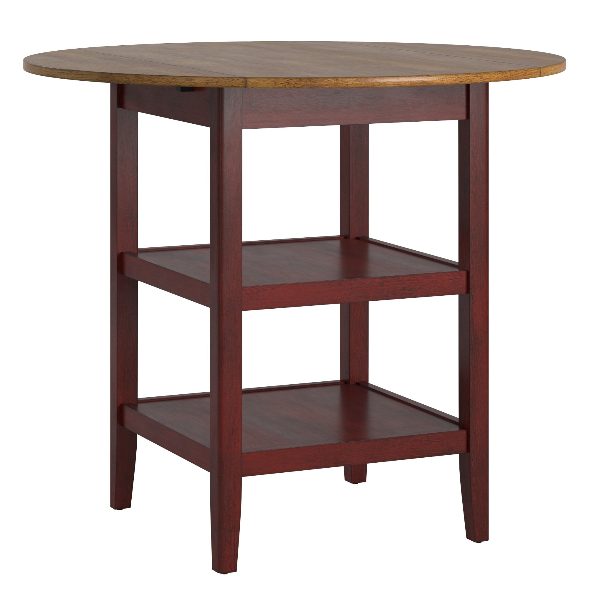 Eleanor Drop Leaf Round Counter Height Table By Inspire Q Classic On Sale Overstock 30865453