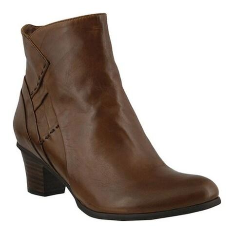 Spring Step Women's Gaspar Bootie Brown Leather