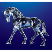 "Pack of 4 Icy Crystal Decorative Horse Figurines 6.5"" - Clear"