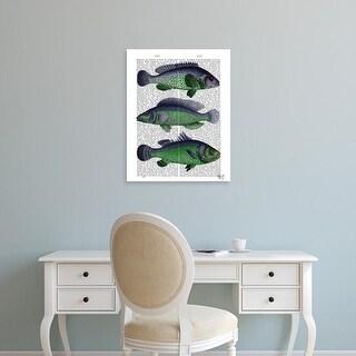 Easy Art Prints Fab Funky's 'Blue and Green Fish Trio' Premium Canvas Art