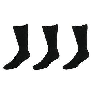 Extra Wide Sock Co. Men's Cotton Wide Big and Tall Tube Socks (Pack of 3) - Black - One size