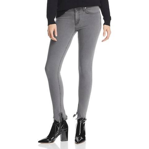 Rag & Bone Womens Cate Skinny Jeans Denim Frayed - Gray