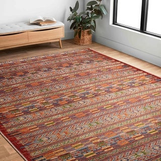 Link to Alexander Home Armanda Modern Tribal Indoor/ Outdoor Area Rug Similar Items in Transitional Rugs