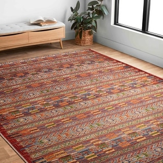 Link to Alexander Home Armanda Modern Tribal Indoor/ Outdoor Area Rug Similar Items in Rugs