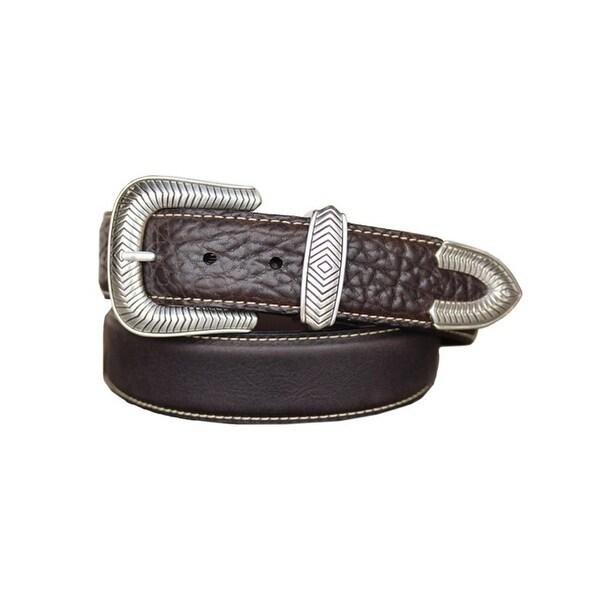Vintage Bison Western Belt Mens Pickett Leather Chocolate