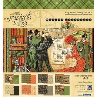 "Graphic 45 Double-Sided Paper Pad 8""X8"" 24/Pkg-Master Detective, 12 Designs/2 Each"