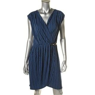 MICHAEL Michael Kors Womens Matte Jersey Cap Sleeves Wear to Work Dress - S