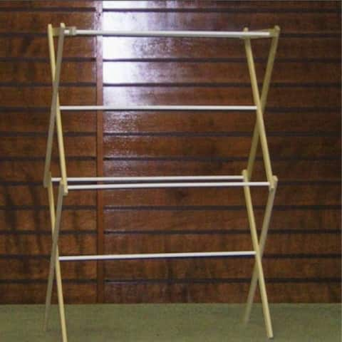 Madison Mill 9 Pet Wood Clothes Dryer with 8 Coated Rungs, 15.5'