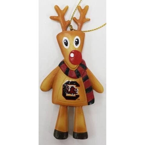 "4"" South Carolina Cookie Dough Reindeer Hanging Christmas Ornament"